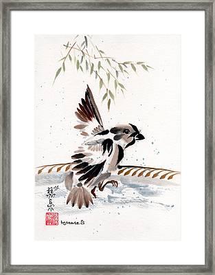Water Wings Framed Print