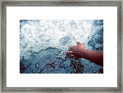 Water Within Reach Framed Print by Kellice Swaggerty