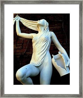 Water Woman Washing Hair Framed Print