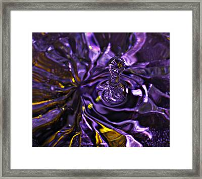 Water Works 01 - The Color Purple Framed Print
