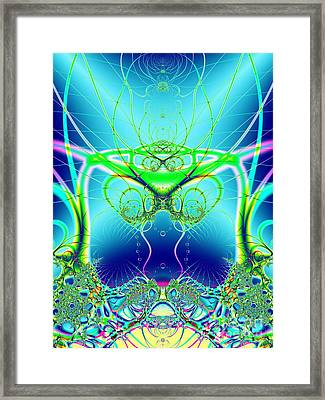Water World Fractal Framed Print