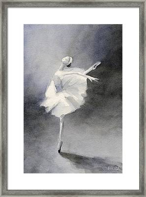 Watercolor Ballerina Painting Framed Print by Beverly Brown