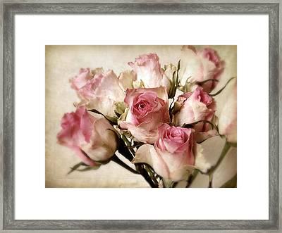 Watercolor Bouquet Framed Print by Jessica Jenney