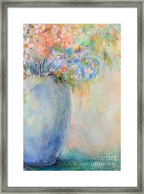 Watercolor Bouquet Framed Print by Pattie Calfy