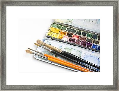Watercolor Box Framed Print