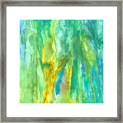 Watercolor Cascade Framed Print by Rosie Brown