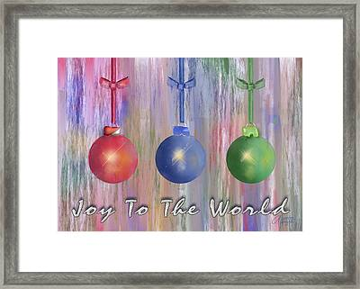 Framed Print featuring the digital art Watercolor Christmas Bulbs by Arline Wagner
