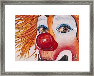 Watercolor Clown #10 Payaso Kiruz Bazo Framed Print by Patty Vicknair