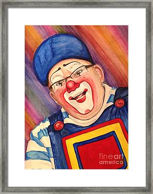 Watercolor Clown #20 Lee Andrews Framed Print by Patty Vicknair