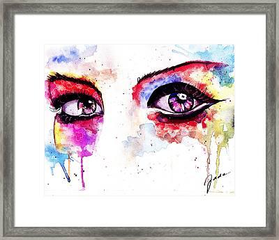 Watercolor Eyes II Framed Print