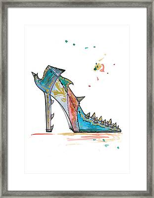 Watercolor Fashion Illustration Art Framed Print by Marian Voicu