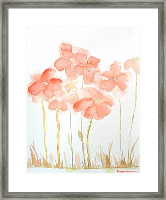 Watercolor Flower Field Framed Print