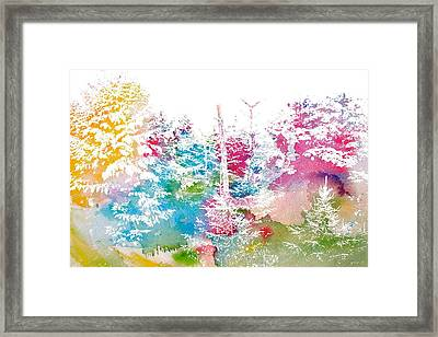 Watercolor Forest Framed Print by Dan Sproul
