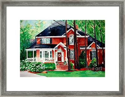 Watercolor Home Portrait 1 Framed Print