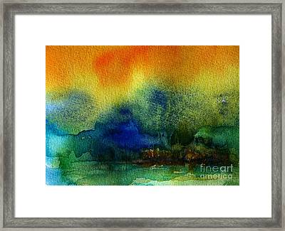 Watercolor Island Framed Print