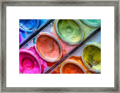 Watercolor Ovals One Framed Print
