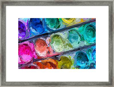 Watercolor Ovals Two Framed Print