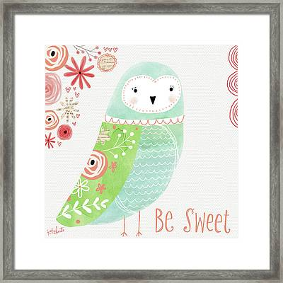 Watercolor Owl Framed Print