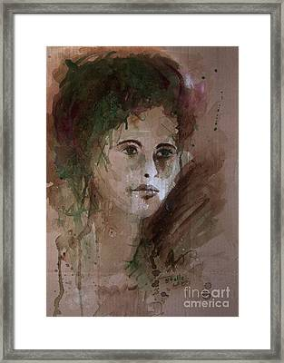 Watercolor Portrait Framed Print by Stella Levi