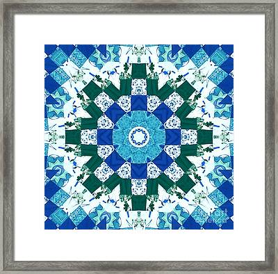 Watercolor Quilt Framed Print