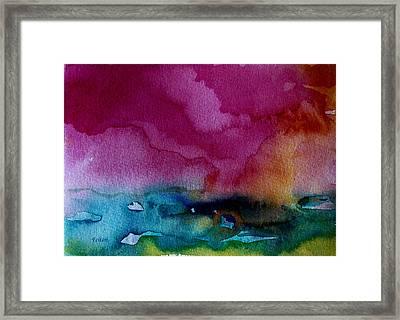 Watercolor Sea Expression 2  4-24-12 Julianne Felton Framed Print