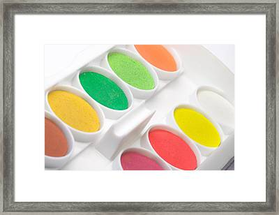 Watercolor Set Framed Print