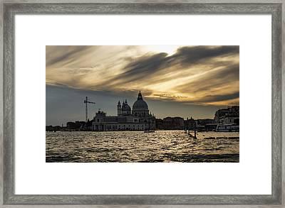 Framed Print featuring the photograph Watercolor Sky Over Venice Italy by Georgia Mizuleva