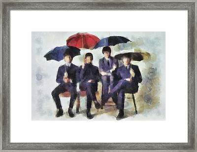 Watercolor Sunday Framed Print