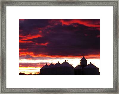 Watercolor Sunset II  Framed Print by Sarah Boyd