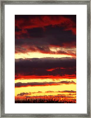 Watercolor Sunset Framed Print by Sarah Boyd