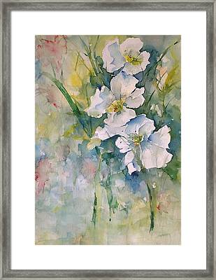Watercolor Wild Flowers Framed Print by Robin Miller-Bookhout