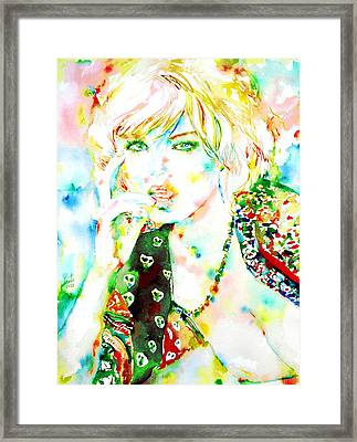Watercolor Woman.3 Framed Print