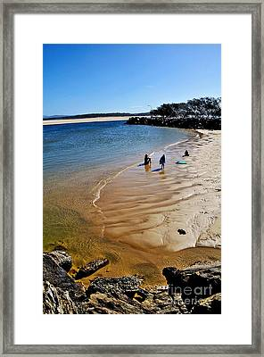 Watercolors At The Beach Framed Print by Kaye Menner
