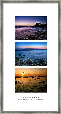 Framed Print featuring the photograph Watercolors by Meir Ezrachi