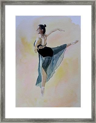 Watercolour Dancer Framed Print