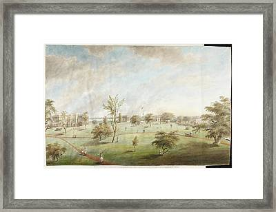 Watercolour Of Barrackpore House And Park Framed Print by British Library