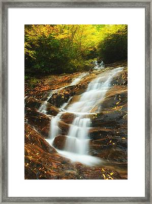 Waterfall @ Sams Branch Framed Print