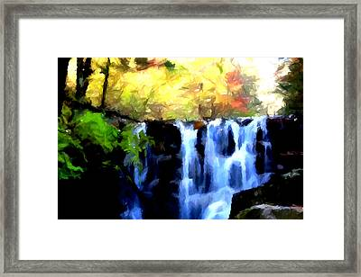 Waterfall 1 Framed Print by Lanjee Chee