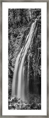 Waterfall 3 Bw Framed Print