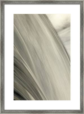 Waterfall Abstract Framed Print by Karol Livote