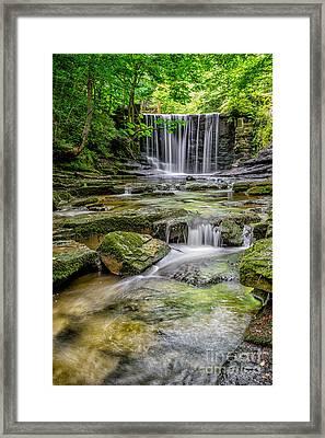 Waterfall Framed Print by Adrian Evans