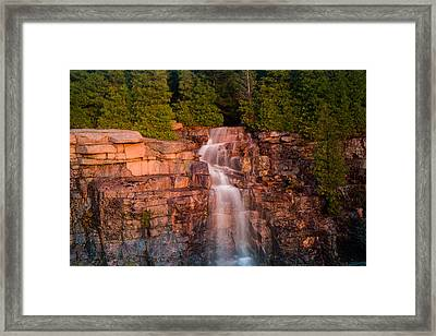 Waterfall Framed Print by Allan Johnson