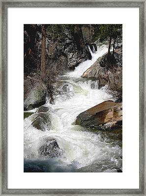 Waterfall Along The Rubicon Trail - Lake Tahoe Framed Print by Patricia Sanders