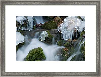 Waterfall An Ice Framed Print