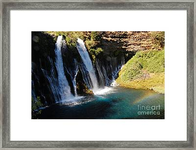 Framed Print featuring the photograph Waterfall And Rainbow 4 by Debra Thompson