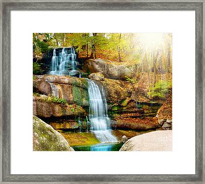 Framed Print featuring the photograph Waterfall Art by Boon Mee