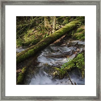 Waterfall Art - Wash Your Worries Away Framed Print