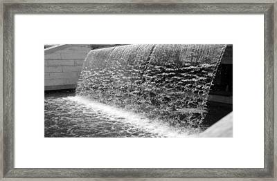 Waterfall At Cityhall Framed Print by Dorin Adrian Berbier