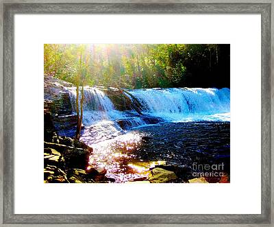 Framed Print featuring the photograph Waterfall At Dupont Forest Park Nc 2 by Annie Zeno
