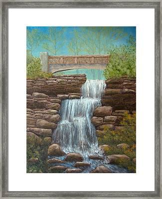 Waterfall At East Hampton Framed Print